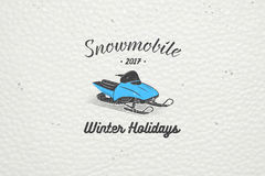 Rent a snowmobile for winter holidays and vacation. Stock Image