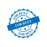 For rent stamp illustration Royalty Free Stock Photos