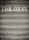 For Rent Store Shutters Royalty Free Stock Images
