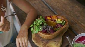 Rent sunt äta för detox Strikt vegetarianmat arkivfilmer