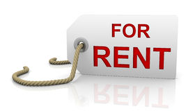 For rent tag in right position Stock Photography