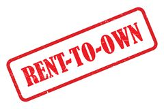 Rent to own stamp. On white stock illustration