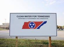 Rent vatten för Tennessee Project Arkivbilder