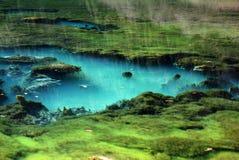 Rent vatten i jiuzhaigou Fotografering för Bildbyråer