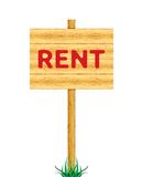 Rent wooden billboard Royalty Free Stock Photography