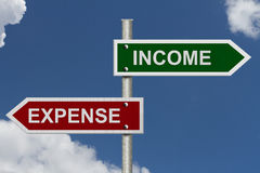 Renta contra costo Imagen de archivo libre de regalías