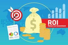 Rentabilidad de la inversión del ROI Fotografía de archivo libre de regalías