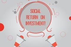 Rentabilidad de la inversión social del texto de la escritura El significado del concepto invierte la parte de las ganancias en m ilustración del vector