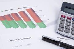 Rentabilidade do investimento Fotografia de Stock Royalty Free