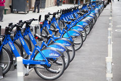 Rentable bikes in New York Royalty Free Stock Images