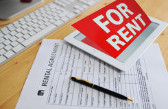 rental agreement 7 Stock Images