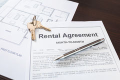 Rental agreement contract Royalty Free Stock Image