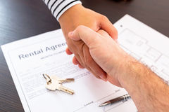 Rental agreement contract. To sign Stock Image