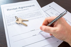 Rental agreement contract Royalty Free Stock Photos