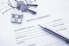 Rental agreement Stock Image
