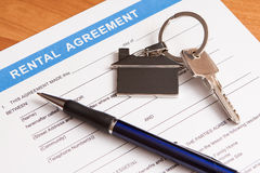 Rental agreement form Royalty Free Stock Images