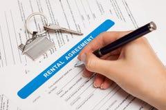 Rental Agreement Form Stock Photos
