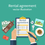 Rental agreement form Stock Images