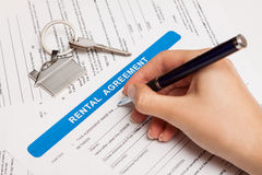 Rental agreement form Stock Photos