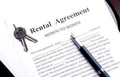 Rental agreement Stock Photography