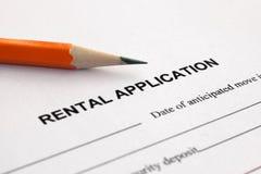 Rental application royalty free stock photo