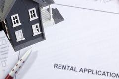 Rental Application Stock Photos