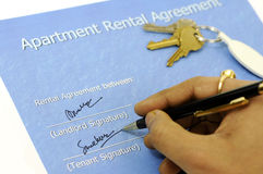 Rental application Stock Images