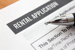 Rental application Royalty Free Stock Photography