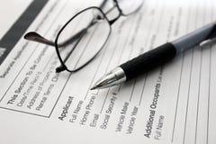 Rental application Royalty Free Stock Image