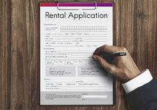 Rental Application Leasable Borrow Apply Rent Concept. Rental Application Leasable Borrow Apply Rent stock photo