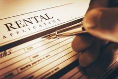 Rental Application Signing Stock Image