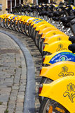 Rental bicycles Brussels Royalty Free Stock Photo