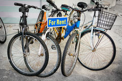 Rental Bicycles on Display in Georgetown, Penang, Malaysia Stock Image