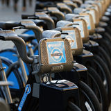 Rental bicycles, London's bicycle sharing scheme Royalty Free Stock Photo