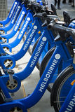 Rental bicycles in Melbourne, Australia Stock Images