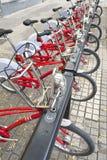Rental bicycles Royalty Free Stock Image