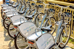 Rental Bicycles Stock Photo
