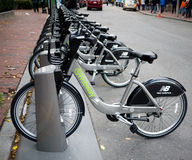 Rental Bikes in Boston Stock Photography