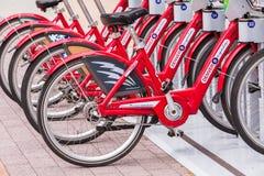 Rental bikes Royalty Free Stock Photo