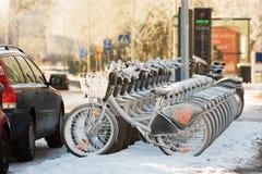 Rental bikes Royalty Free Stock Photos