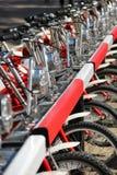 Rental bikes Stock Images