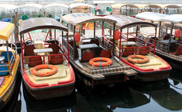 The rental boat in Houhai Lake area in beijing.  Stock Photography