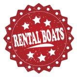 Rental boats grunge stamp Royalty Free Stock Photo