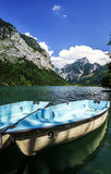 Rental boats on the mountain lake Royalty Free Stock Images
