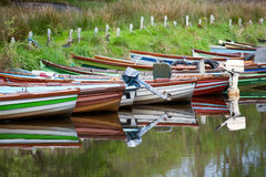 Rental boats reflection Royalty Free Stock Photography