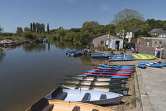 Rental boats on the River Frome Wareham England UK Royalty Free Stock Photo