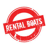 Rental Boats rubber stamp Stock Photos