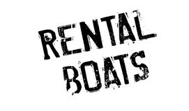 Rental Boats rubber stamp Royalty Free Stock Images