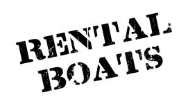 Rental Boats rubber stamp Stock Photography