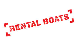 Rental Boats rubber stamp Royalty Free Stock Photo